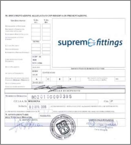 Supreme Fittings Trademark filing